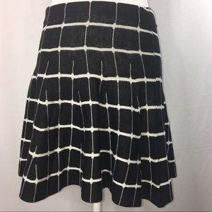 Candies Knit Skirt Windowpane Print Size Medium